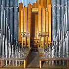 Pipe Organ Pipes by Susan S. Kline