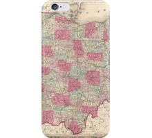Vintage Map of Ohio (1864)  iPhone Case/Skin