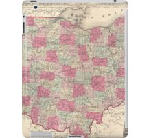 Vintage Map of Ohio (1864)  iPad Case/Skin