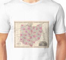 Vintage Map of Ohio (1864)  Unisex T-Shirt