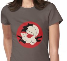 Three-Tailed Kitsune Womens Fitted T-Shirt