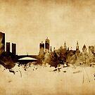 Leeds England Skyline by Michael Tompsett