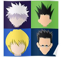 Kurapika, Killua, Gon and Leorio (Hunter x Hunter) [2x2] Poster