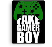 Fake Gamer Boy - Xbox - White Text Canvas Print