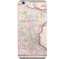 Vintage Map of Minnesota (1864) iPhone Case/Skin