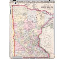 Vintage Map of Minnesota (1864) iPad Case/Skin