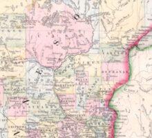 Vintage Map of Minnesota (1864) Sticker
