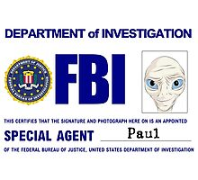 Paul the Alien's FBI ID Photographic Print