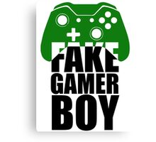 Fake Gamer Boy - Xbox - Black Text Canvas Print