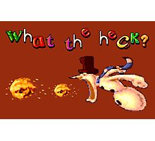 Earthworm Jim - What the Heck? Photographic Print