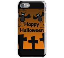 Halloween - bats on the cemetery  iPhone Case/Skin
