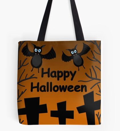 Halloween - bats on the cemetery  Tote Bag