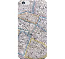Vintage Map of Paris (1865) iPhone Case/Skin