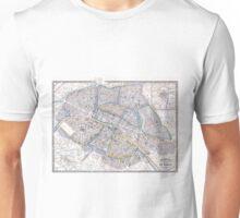 Vintage Map of Paris (1865) Unisex T-Shirt
