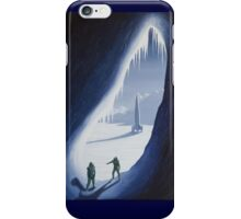 Exploring the ice cave iPhone Case/Skin