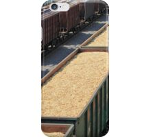 rail cars loaded with wood chip iPhone Case/Skin