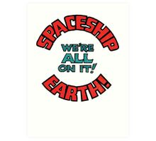 spaceship earth Art Print