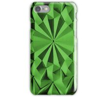 Green fractals pattern, tiled iPhone Case/Skin