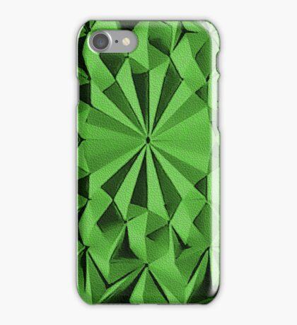Green fractals pattern, tiled iPhone Case/Skin