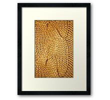 gold cable knit | textures Framed Print