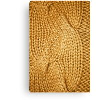 gold cable knit | textures Canvas Print