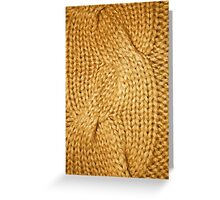 gold cable knit | textures Greeting Card