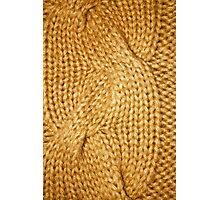 gold cable knit   textures Photographic Print