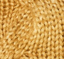 gold cable knit | textures Sticker