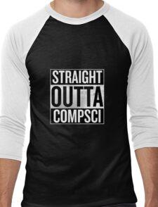 Straight Outta Compsci Men's Baseball ¾ T-Shirt
