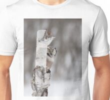 Northern Hawk-owl with prey Unisex T-Shirt