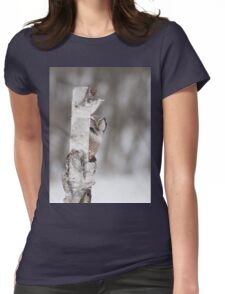 Northern Hawk-owl with prey Womens Fitted T-Shirt