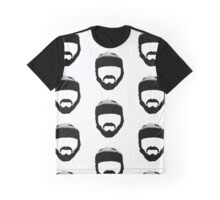 Rugby Fella - With Scrum Cap & Moustache Graphic T-Shirt