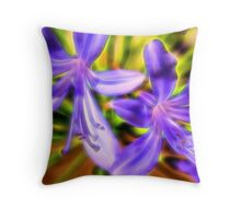 African Lily Flower Throw Pillow