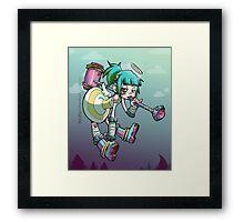 Angel Mallet Girl Framed Print