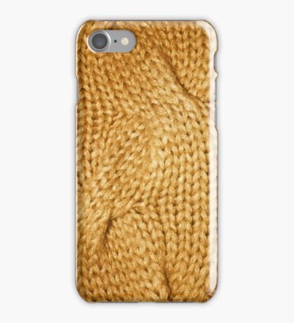 gold cable knit | textures iPhone Case/Skin