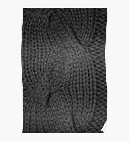 cable knit | texture Poster