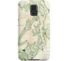Vintage Map of The Puget Sound (1867) Samsung Galaxy Case/Skin