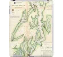 Vintage Map of The Puget Sound (1867) iPad Case/Skin