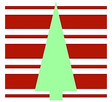 Mod Green and Red Christmas Tree Photographic Print