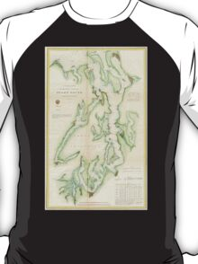 Vintage Map of The Puget Sound (1867) T-Shirt
