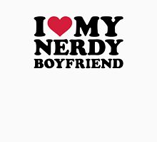 I love my nerdy boyfriend Womens Fitted T-Shirt