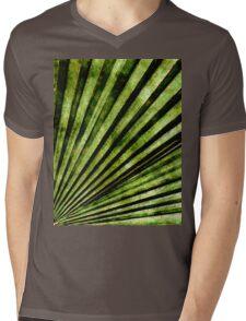 Green Palm Tree Frond Mens V-Neck T-Shirt