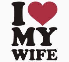 I love my wife Kids Tee