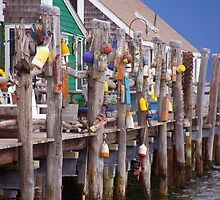 Provincetown Buoy Dock by phil decocco