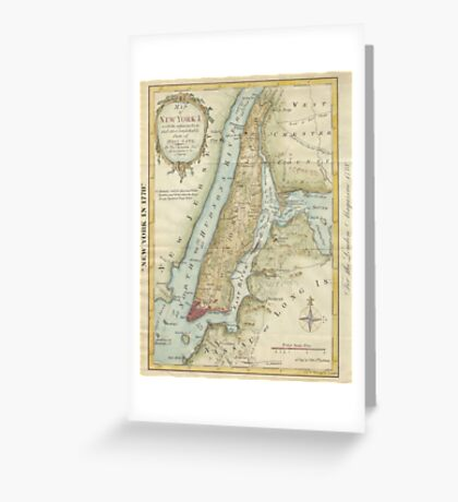 Vintage Map of New York City (1869) Greeting Card