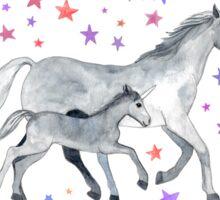 Mama and Baby Unicorn Sticker