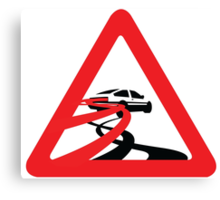 Caution: Inertia Drift Canvas Print