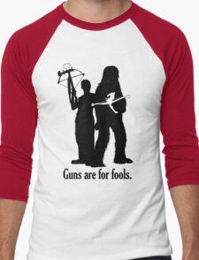 Guns are for fools. Men's Baseball ¾ T-Shirt