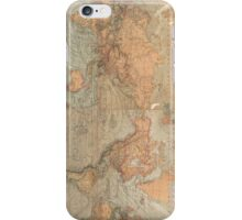 Vintage Map of The World (1870) iPhone Case/Skin
