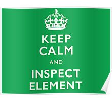 Keep Calm and Inspect  Poster